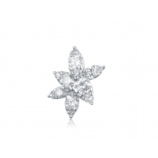 Valentina Pave Diamond Earring 18K White Gold
