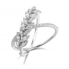 Tasia Channel Diamond Ring 18K White Gold