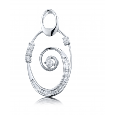 Earwyn Prong Diamond Pendant 18K White Gold