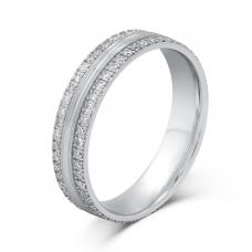 Peppin Micro Women's Wedding Ring 18K White Gold