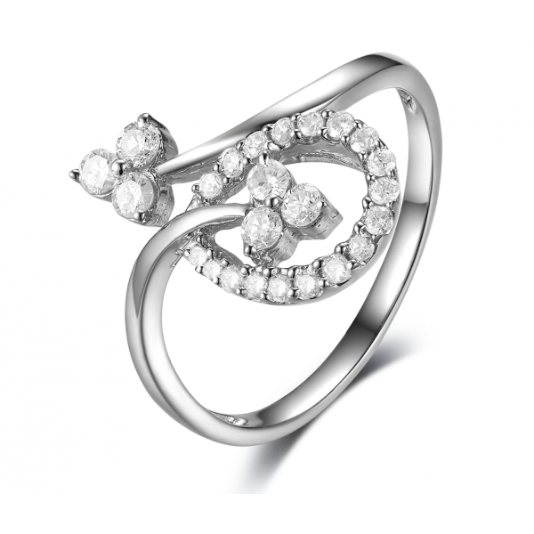 Ares Prong Diamond Ring 18K white Gold