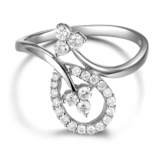 Ares Prong Diamond Ring 18K white Gold