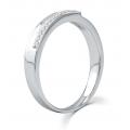 La Verne Micropave Diamond Wedding Ring 18K White Gold(Pair)