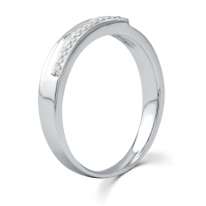 La Verne Micropave Men's Wedding Ring 18K White Gold