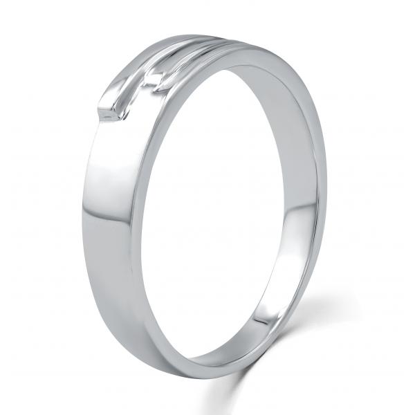 La Verne Micropave Women's Wedding Ring 18K White Gold