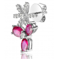 Kyra Ruby Diamond Earring 18K White Gold