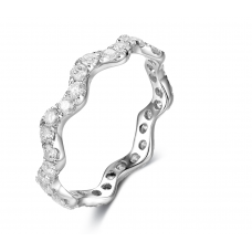 Alysa Channel Diamond Ring 18K White Gold