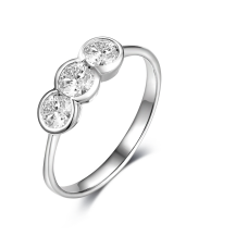 Alexys Bezel Diamond Ring 18K White Gold