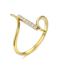 Calix Channel Diamond Ring 18K Yellow Gold