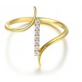 Calix Channel Diamond Ring 18K Yellow Gold
