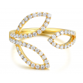 Cailey Channel Diamond Ring 18K Yellow Gold