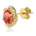 Lexy Sapphire Diamond Earring 18K Yellow Gold