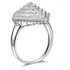 Celena Prong Diamond Ring 18K White Gold