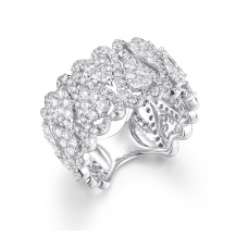 Heart Diamond Ring 18K White Gold
