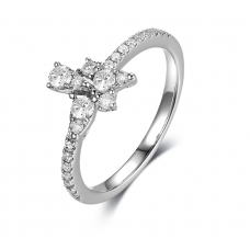 Verina Micropave Diamond Ring 18K White Gold