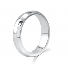 Gauthier Men's Comfort Fit Ring 18K White Gold