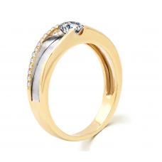 Delit Diamond Wedding Ring 18K Yellow and White Gold(Pair)
