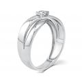 Orane Channel Diamond Wedding Ring 18K White Gold(Pair)