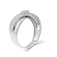Orane Channel Women's Wedding Ring 18K White Gold