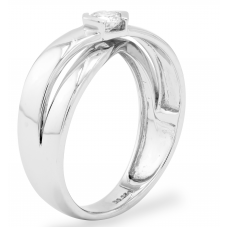 Orane Channel Men's Wedding Ring 18K White Gold