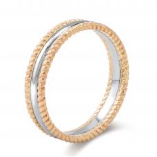 Carel Men's Wedding Ring 18K White and Rose Gold