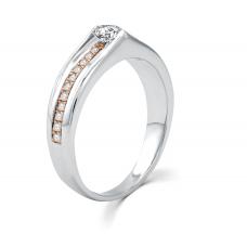 Carressa Diamond Wedding Ring 18K White and Rose Gold(Pair)