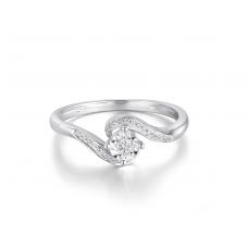 Pinnacle Illusion Diamond Ring 18K White Gold