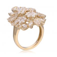 Fleur Prong Diamond Ring 18K Yellow Gold