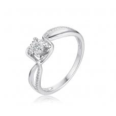 Plasma Illusion Diamond Ring 18K White Gold
