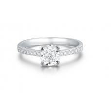 Floret Illusion Diamond Ring 18k white gold