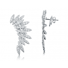 Angel Wing Diamond Earring 18k White Gold