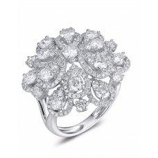 Flora Cluster Diamond Ring