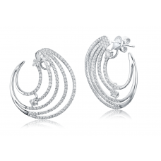 Gadio Diamond Earring 18K White Gold