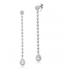 Pendulous Diamond Earring 18K White Gold
