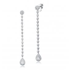 Pendulous Diamond Earring 18K White Gold