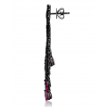 Nostalgia Ruby and Spinel Earring 18K Black Gold