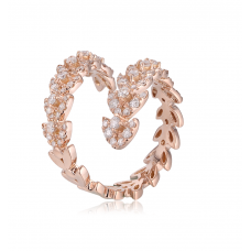 Conical Diamond Ring 18K Rose Gold
