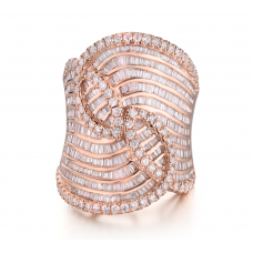 Musique Prong Diamond Ring 18K Rose Gold