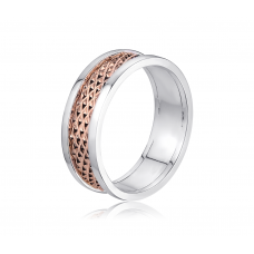 Lemour Grand Wedding Ring in 18K Rose Gold