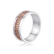 Lemour Grand Wedding Ring in 18K Rose Gold