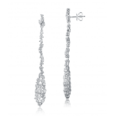 Chainy Diamond drop Earring 18k White Gold