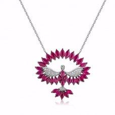 Prodigy Ruby Diamond Necklace 18K Black Gold