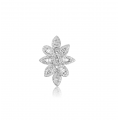Fluer Channel Diamond Earring 18K White Gold