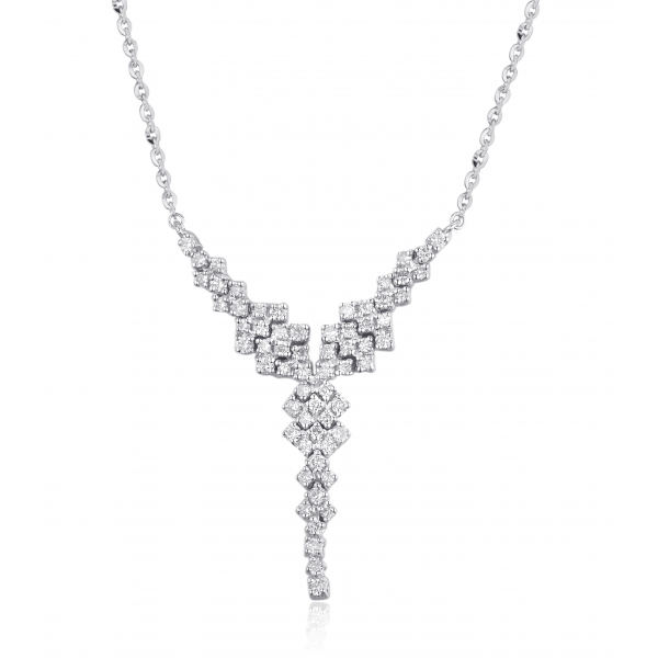 a5ebafe4064a15 Y-Style Diamond Necklace 18K White Gold