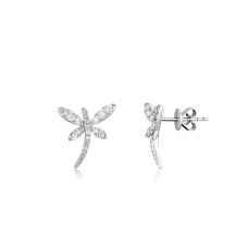 Papillon Butterfly Diamond Earring 18K White Gold