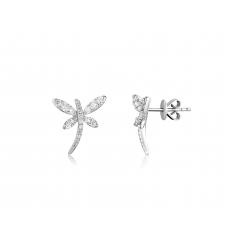 Papillon Butterfly Diamond Earring 18K White Gold