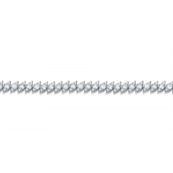 Dazzling Diamond Bracelet 18K White Gold