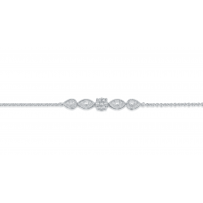 Gabi Cluster Diamond Bracelet 18K White Gold