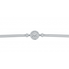 Elliptic Cluster Diamond Bracelet 18K White Gold