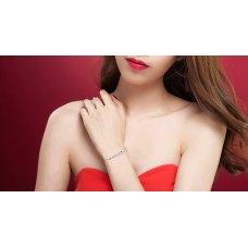Janiya Sapphire Diamond Bracelet 18K White Gold